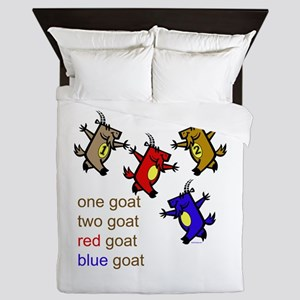 One Goat, Two Goat, Red Goat, Blue Goat Queen Duve