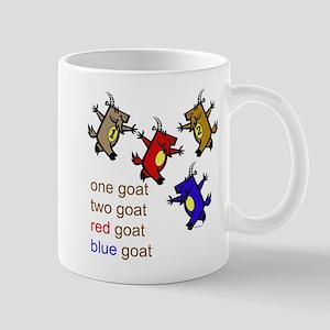 One Goat, Two Goat, Red Goat, Blue Goat Mug
