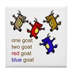 One Goat, Two Goat, Red Goat, Blue Goat Tile Coast