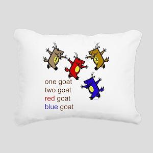 One Goat, Two Goat, Red Goat, Blue Goat Rectangula