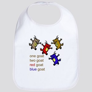 One Goat, Two Goat, Red Goat, Blue Goat Bib