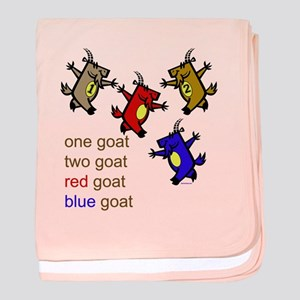 One Goat, Two Goat, Red Goat, Blue Goat baby blank