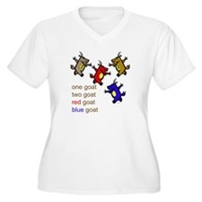 One Goat, Two Goat, Red Goat, Blue Goat Women's Pl