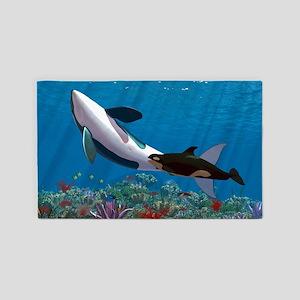 Orca Family 3'x5' Area Rug