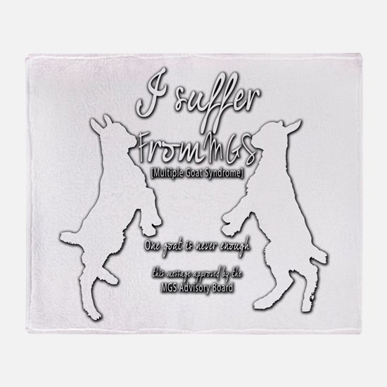 Funny Goat - Suffer from MGS Throw Blanket