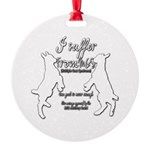 Funny Goat - Suffer from MGS Round Ornament