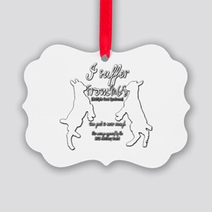 Funny Goat - Suffer from MGS Picture Ornament