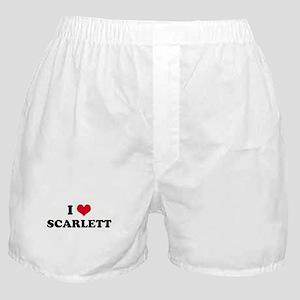 I HEART SCARLETT Boxer Shorts