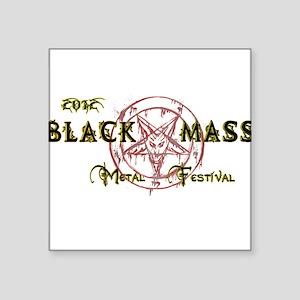 "Black Mass 2012 Logo Square Sticker 3"" x 3"""