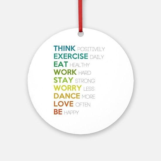 Eat, dance, love Ornament (Round)