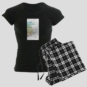 Eat, dance, love Women's Dark Pajamas