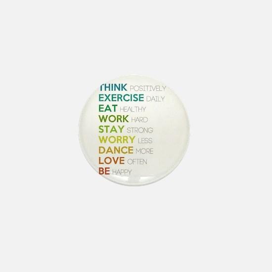 Eat, dance, love Mini Button