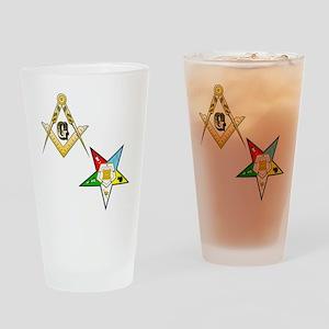 Masonic - Eastern Star Drinking Glass