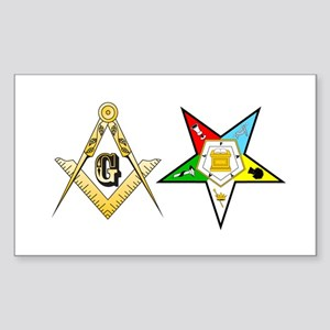 Masonic - Eastern Star Sticker (Rectangle 10 pk)