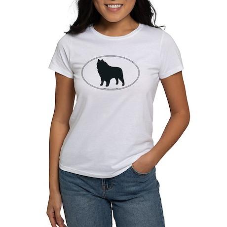 Schipperke Silhouette Women's T-Shirt