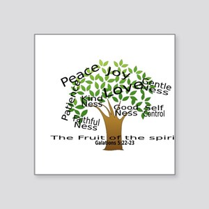 "Fruit of the Spirit Square Sticker 3"" x 3"""