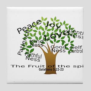 Fruit of the Spirit Tile Coaster