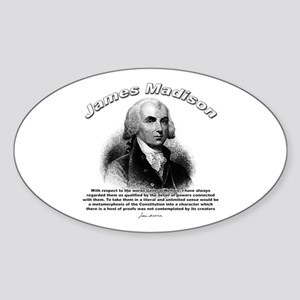 James Madison 07 Oval Sticker