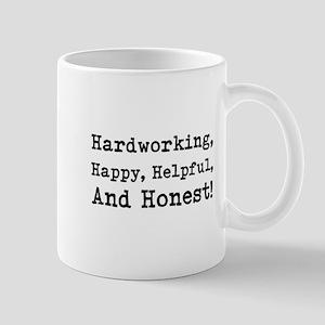 Hardworking, Slogan. Mug
