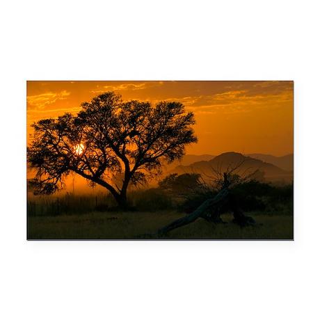 Dawn over Namibian landscape - Car Magnet