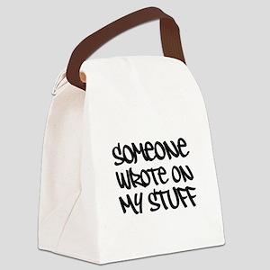 Someone Wrote... Slogan. Canvas Lunch Bag