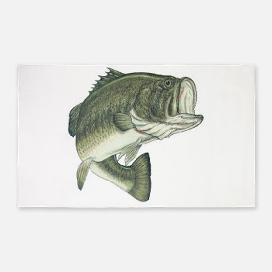 Large Mouth Bass 3'x5' Area Rug
