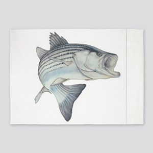 stripe bass 5'x7'Area Rug