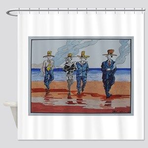 Billy Boys by Pat Shower Curtain