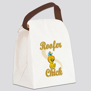 Roofer Chick #2 Canvas Lunch Bag
