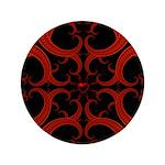 Red Black Goth Fractal Heart Pattern 3.5