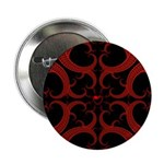 Red Black Goth Fractal Heart Pattern 2.25