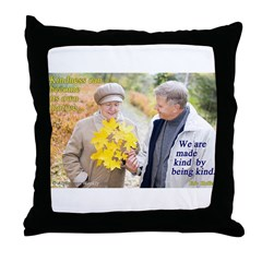 Made Kind by Being Kind Throw Pillow