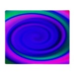 Abstract Blue Swirl Pattern Throw Blanket
