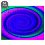 Abstract Blue Swirl Pattern Puzzle