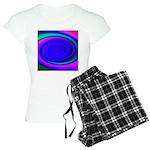 Abstract Blue Swirl Pattern Women's Light Pajamas
