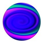Abstract Blue Swirl Pattern Round Car Magnet