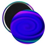 Abstract Blue Swirl Pattern Magnet