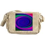 Abstract Blue Swirl Pattern Messenger Bag