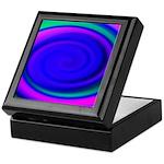 Abstract Blue Swirl Pattern Keepsake Box