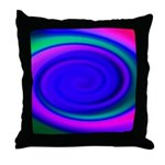 Abstract Blue Swirl Pattern Throw Pillow