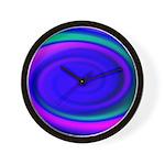 Abstract Blue Swirl Pattern Wall Clock