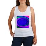 Abstract Blue Swirl Pattern Women's Tank Top