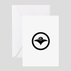 Wild goose in circle Greeting Card