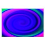 Abstract Blue Swirl Pattern Large Poster