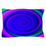 Abstract Blue Swirl Pattern Pillow Case