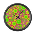 Yellow and Green Hippie Flower Pattern Large Wall