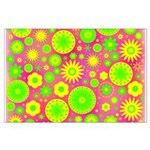Yellow Green Hippie Flower Large Poster