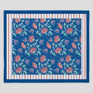 Aiyana Floral Batik Medley King Duvet