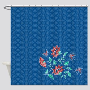Aiyana Batik Pattern Shower Curtain 2
