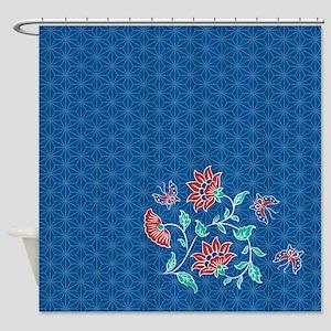 Aiyana Batik Pattern Shower Curtain 2